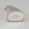 A swedish 19th century parcel-gilt silver snuff-box, mark of lars sundstrom, ostersund 1883.