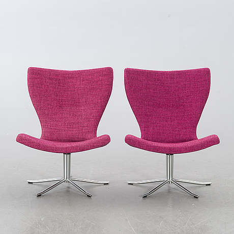 "Jan ekstrÖm, 2 easy chairs, ""gyro"" conform, 21st century."