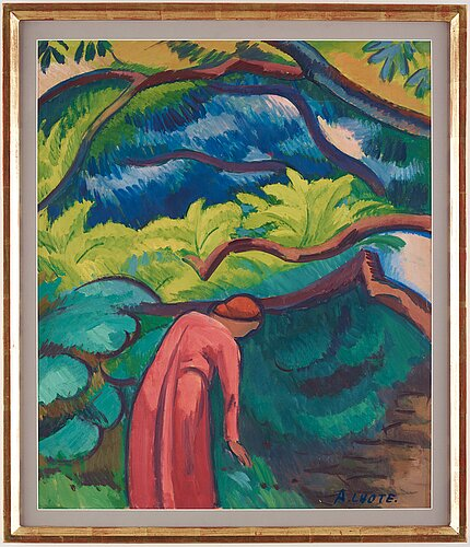 André lhote, woman in landscape.