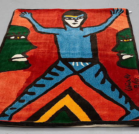 """Ulrica hydman-vallien, a carpet, """"the phantom"""", tufted, ca 191,5 x 137,5 cm, signed and numbered ulrica hv 9/10."""