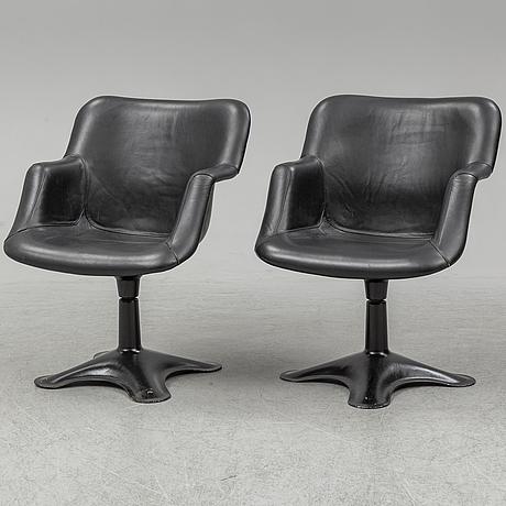 YrjÖ kukkapuro, a pair of 'junior' armchairs, haimi 1960's.
