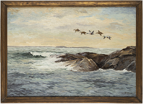 Rolf mellstrÖm, oil on canvas, signed and dated 1934.