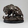 Antoine louis barye, after, sculpture, bronze.