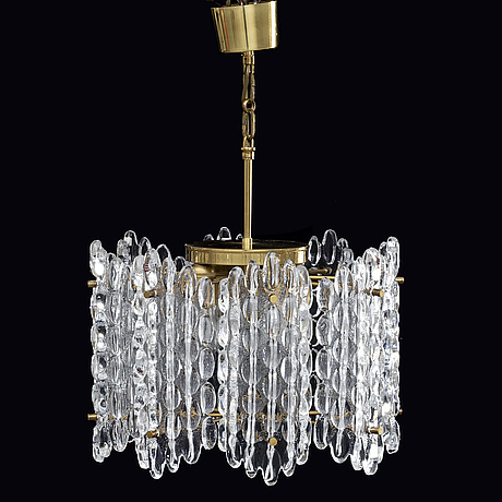 Carl fagerlund, lamp pendant, orrefors, second half of the 20th century.