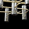 An eight-light ceiling light, second half of the 20th century.