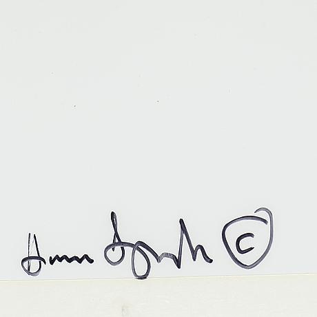 Hanna ljungh, c-print, signerad a tergo.
