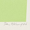 Sten eklund, lithograph in colors, signed and numbered 37/150. daterad -06.