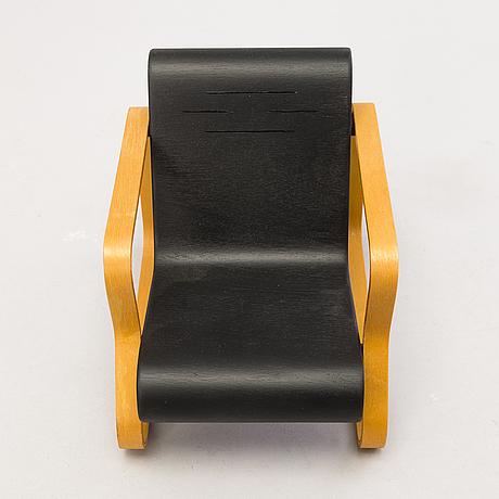 Alvar aalto, , a miniature, 'paimio chair', vitra design museum.