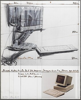 CHRISTO & JEANNE-CLAUDE, screenprint and collage, 1985, signed in pencil and numbered AP 27/35.