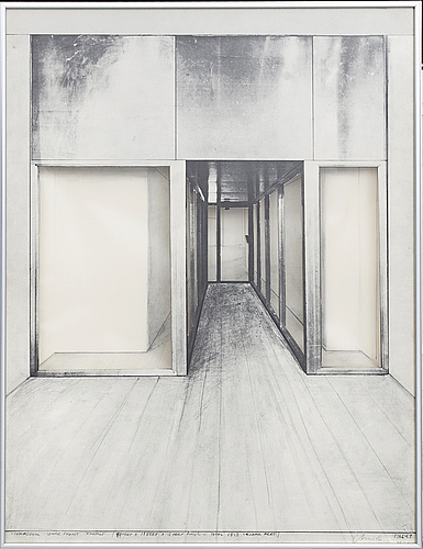 Christo & jeanne-claude, screenprint with collage, signed in pencil and numbered 39/100.