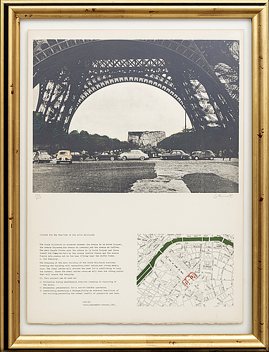 Christo & jeanne-claude, lithograph in colours, 1970, signed in pencil and numbered 277/300.