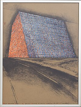 CHRISTO & JEANNE-CLAUDE, lithograph with collage of colour silkscreen, 1976, signed in pencil and numbered 137/200.