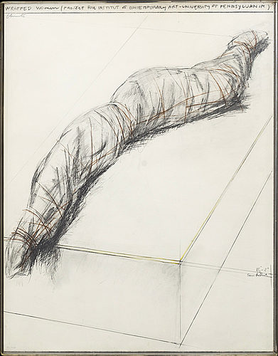 Christo & jeanne-claude, colour screenprint, 1973, signed in pencil and numbered 33/120.