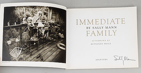 "Sally mann, ""immediate family"", signed."