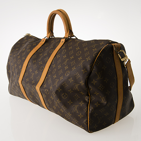 Louis vuitton, keepall bandouliere 55 weekend bag.