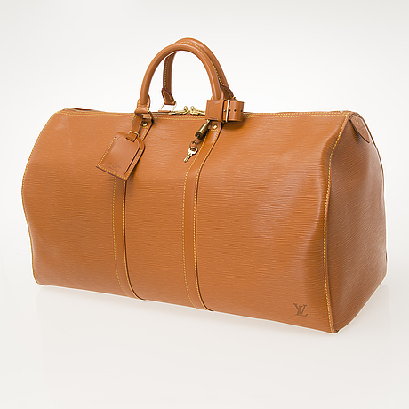 "Louis vuitton, ""keepall epi"", travel bag."