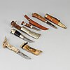 Four sami knives.