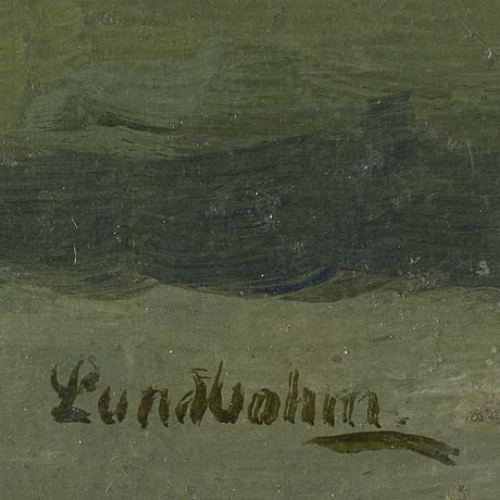 Sixten lundbohm, oil on panel, signed.