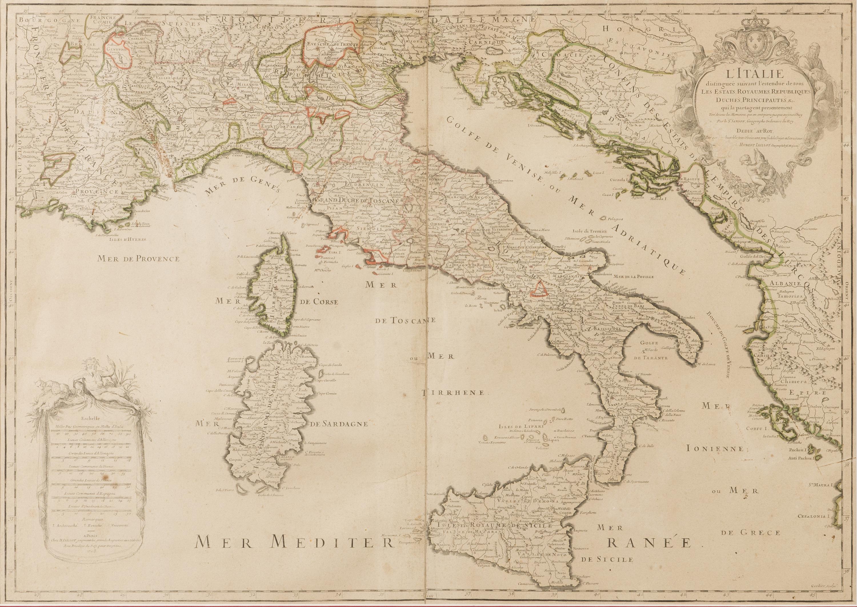 Kartta Italia L Italie Alexis Hubert Jaillot Paivatty