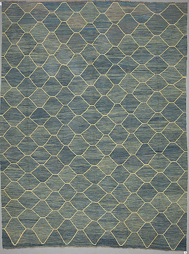 A carpet, kelim 403 x 295  cm.