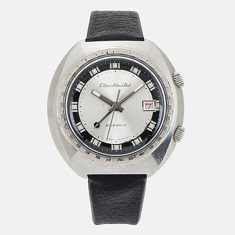 Citizen, alarm date, wristwatch, 42 x 41 (42) mm.