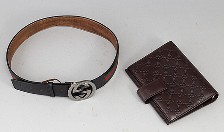 Gucci, a belt + a calendar case.