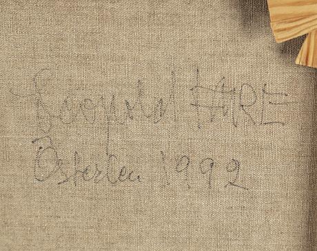 Leopold fare, olja på duk, signerad.
