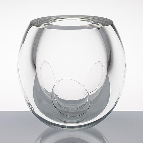 "Timo sarpaneva, glasskulptur, ""claritas"", signerad timo sarpaneva iittala 1984c 1862."
