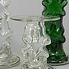 Seven glass candlesticks by erkkitapio siiroinen,