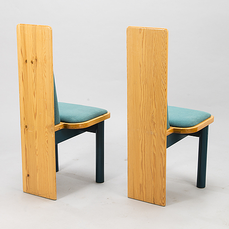 Eero aarnio, set of six early 1980's 'viking' chairs for polarisdesign.