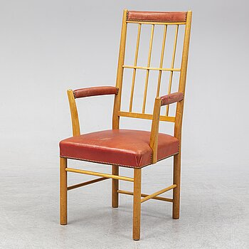 A model 652 mahogany armchair by Josef Frank for Firma Svenskt Tenn.