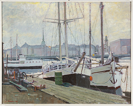 Lennart roupe, oil on canvas, signed and dated -82.