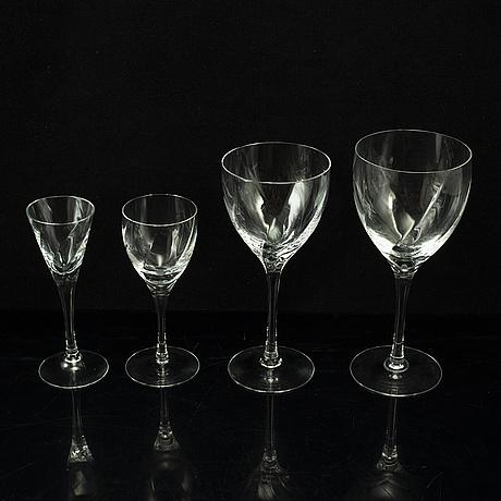 A 57 pcs 'chateau' glasservice by bertil vallien kosta boda.