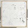 "Martin ""rocky"" kellerman, spray on canvas, signed."