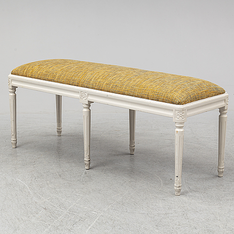 A gustavian style bench, late 20th century.
