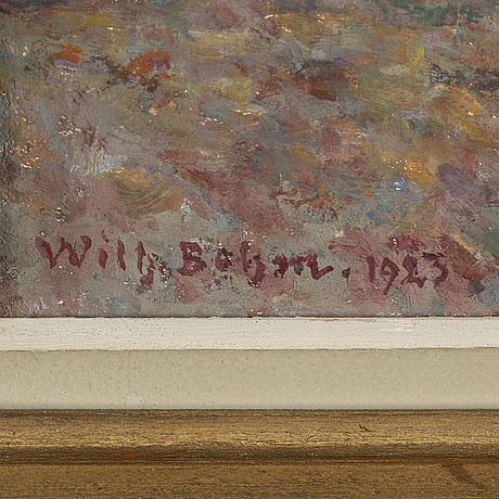 Wilhelm behm, oil on canvas, signed and dated 1923.