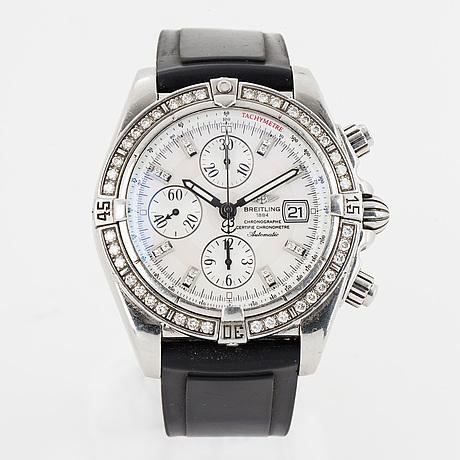 "Breitling, chronomat evolution, ""tachymetre"", chronometre, wristwatch, chronograph, 43,7 mm."