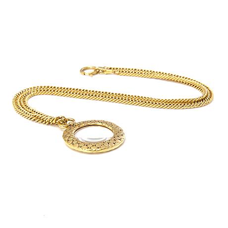 Chanel, kaulakoru, kullanväristä metallia, lasia.