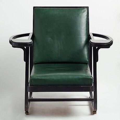 Carl bergsten, an armchair, by gemla leksaksfabrik diö, for the exhibition in norrköping sweden 1906.