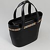 Burberry, 'leather tote bag'.