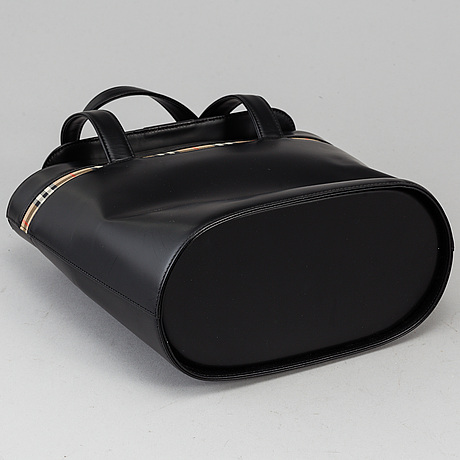 "Burberry, väska, ""leather tote bag""."
