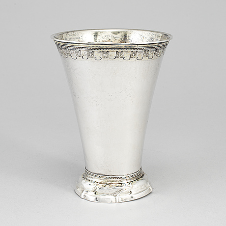 Lorens stabeus, a silver beaker, stockholm 1763.