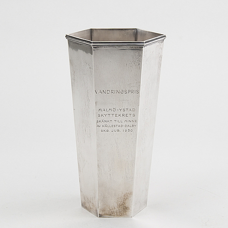 A sterling silver vase by wiwen nilsson,