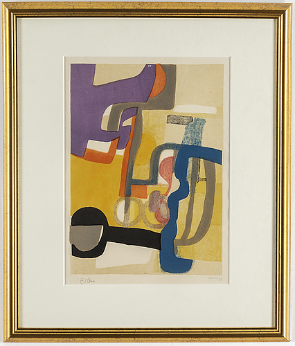 Maurice estÈve, lithograph in colours, signed  xxxviii/lx.