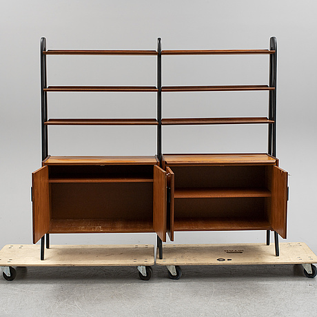 A 1960s set of teak shelves.
