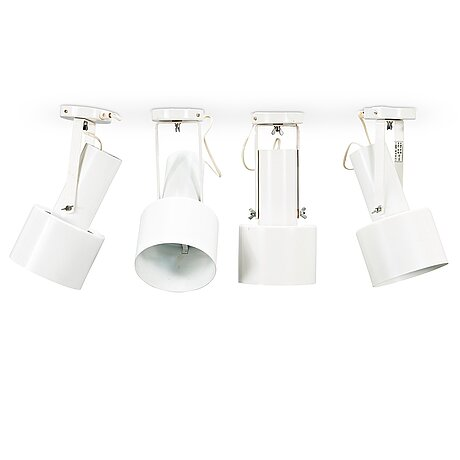 Paavo tynell, four 1960's 'h4-43' spotlights for idman, finland.