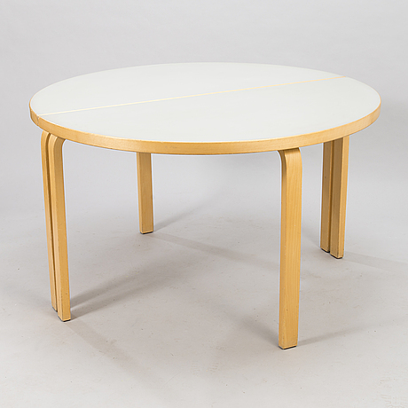 Alvar aalto, two 1980's '95' tables for artek.