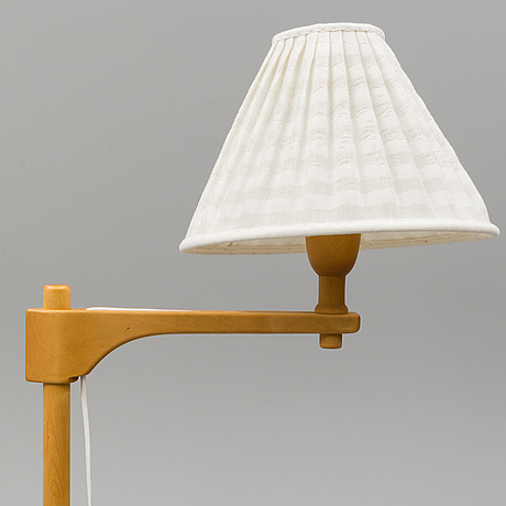 A 'staken' floor light by carl malmsten, late 20th century.