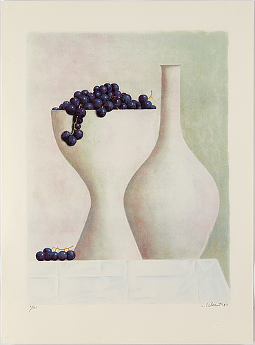 Philip von schantz, lithograph in colours, 1987, signed and numbered 86/125.