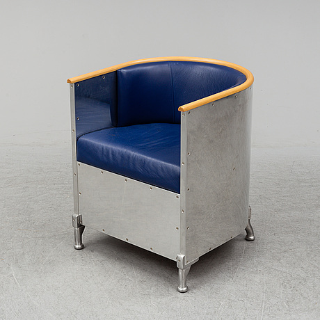 Mats theselius, an 'aluminium' easy chair, designed 1990.